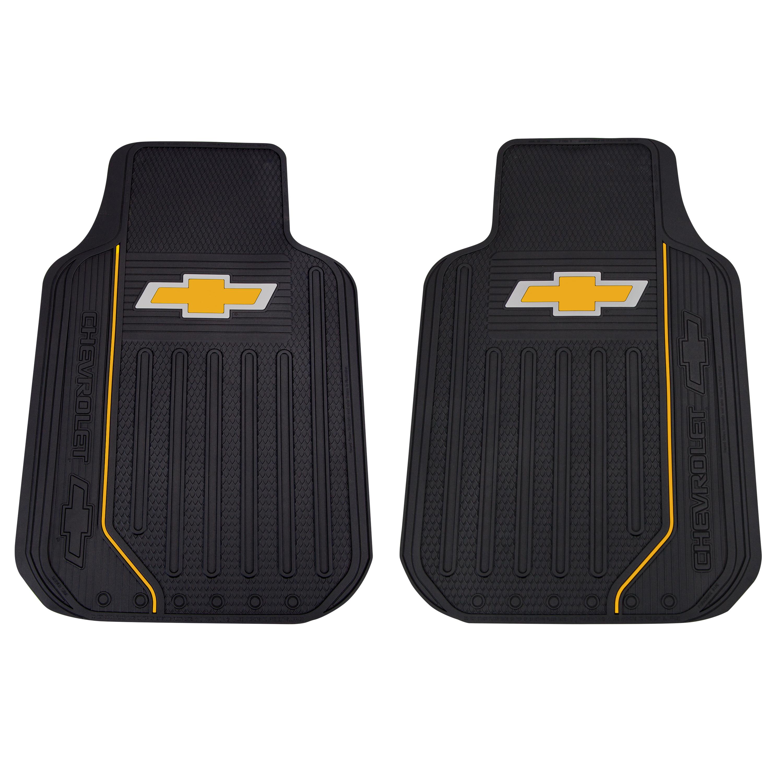 Plasticolor Chevy Elite Series Floor Mats Gold Bowtie