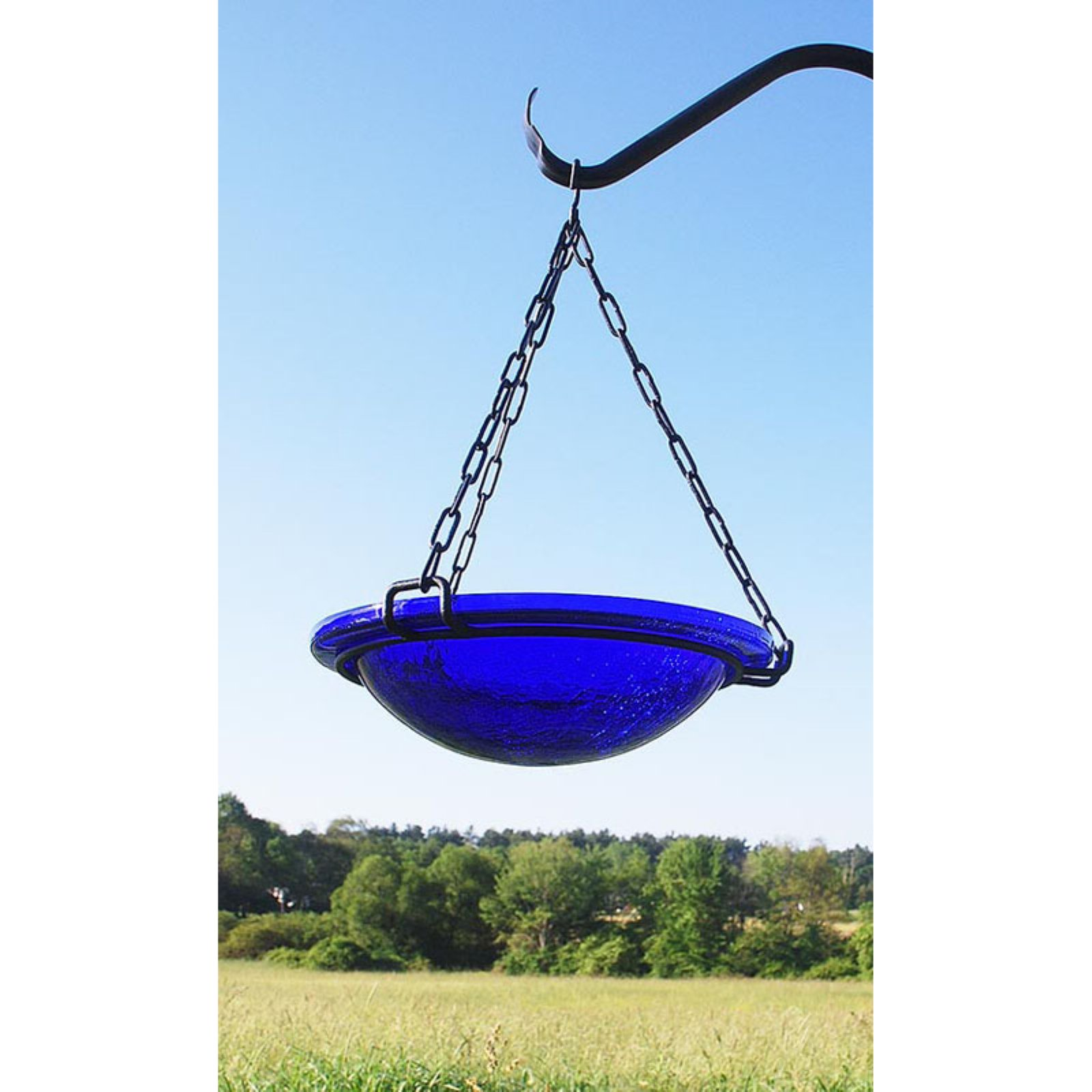 Achla Designs Crackled Glass Hanging Bird Bath