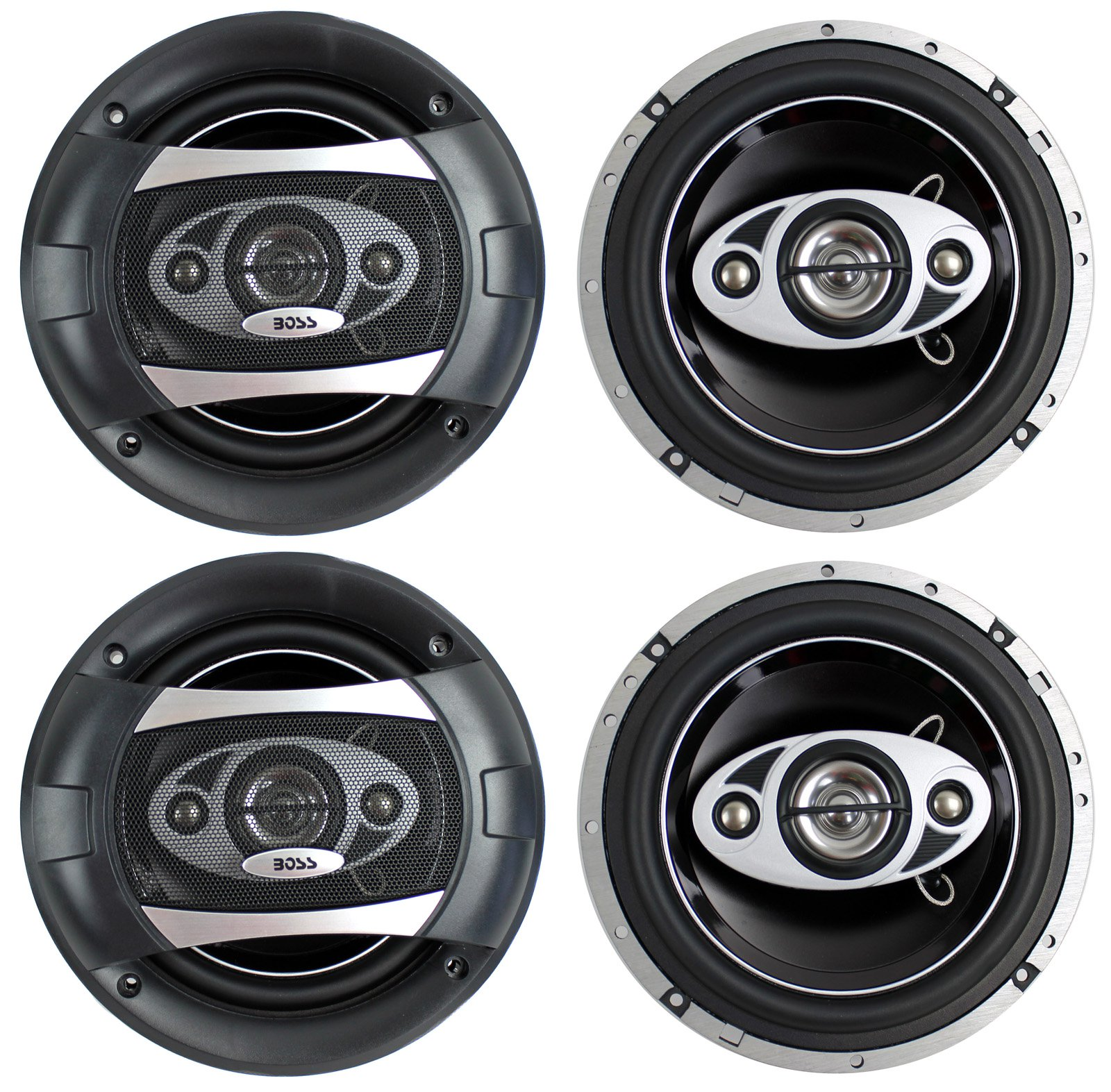 """4) NEW BOSS AUDIO P65.4C 6.5"""" 4-Way 400W Car Audio Coaxial Speakers Stereo P654C"""