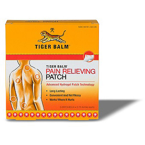 Tiger Balm Pain Relieving Patch, 5ct