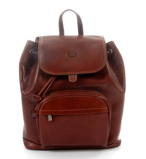Florentina Leather Backpack in Cognac