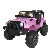 12V Kids Ride on Car SUV MP3 RC Remote Control LED Lights Pink