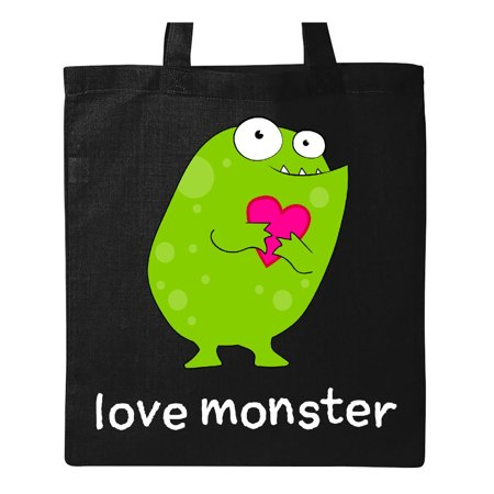 Love Monster green Tote Bag Black One Size