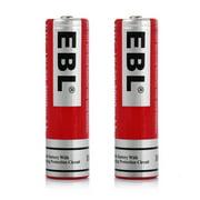 EBL 2-Pack 18650 Battery 3.7v 3000mAh Li-ion Rechargeable Batteries