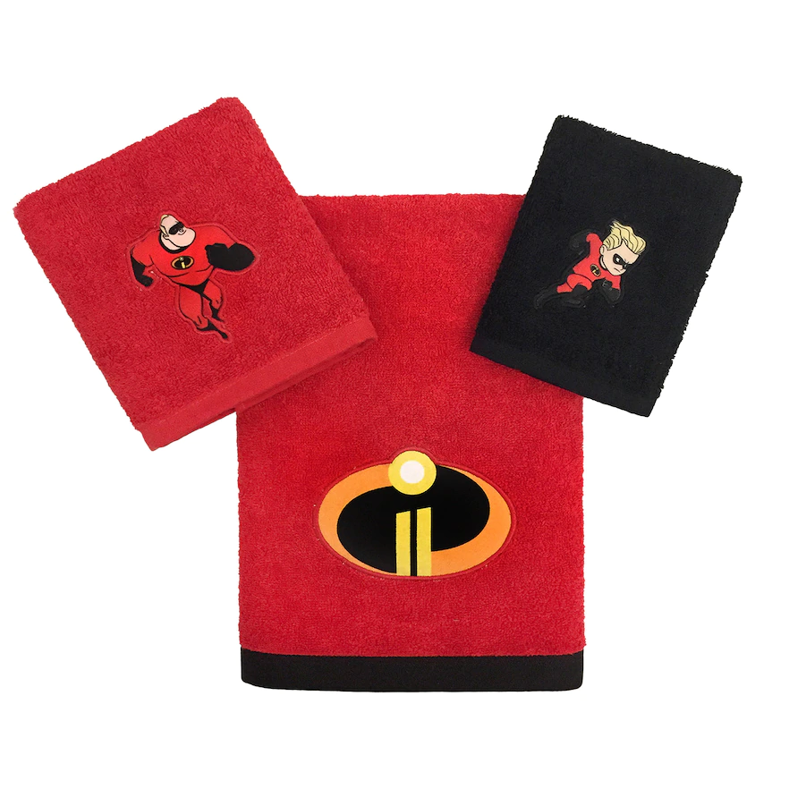 The Incredibles 3-piece Bath, Hand and Washcloth Collection