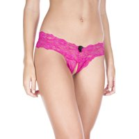 Music Legs Crotchless Lace Panty, Style 10013