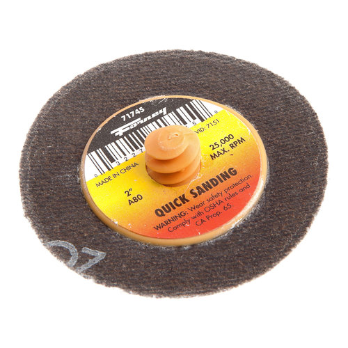 "2"" 80-Grit Quick Change Mini-Sanding Disc Forney Welding Accessories 71745"