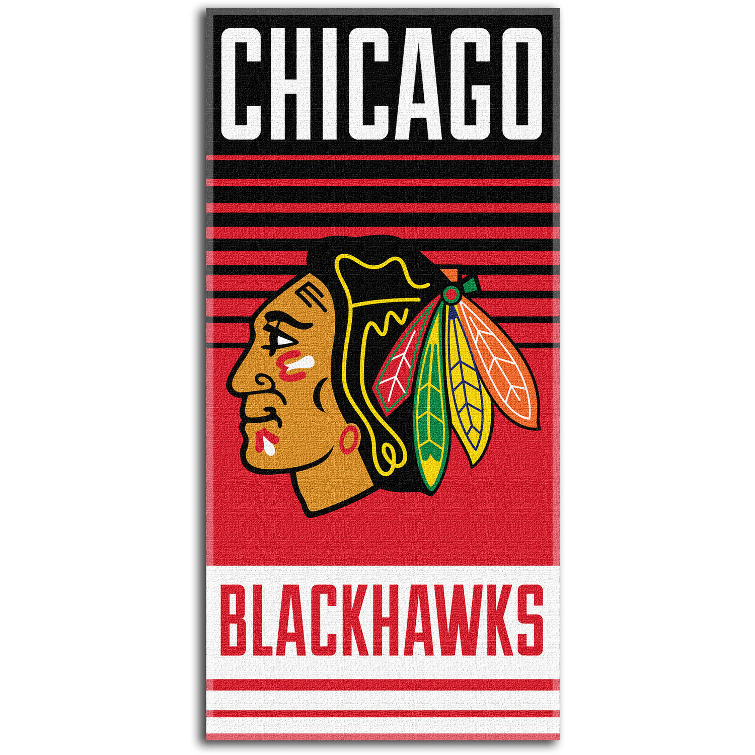 "NHL ""Flow"" 30"" x 60"" Beach Towel, Chicago Blackhawks"
