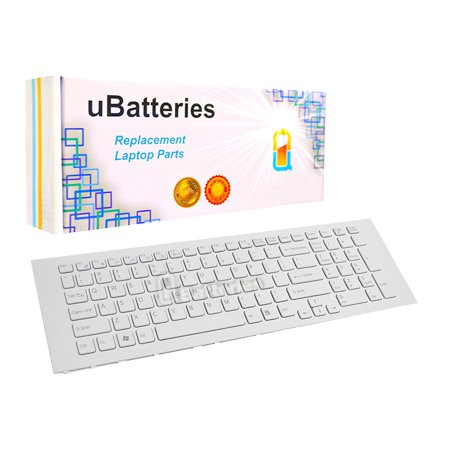 - UBatteries Laptop Keyboard Sony VAIO VPC-EJ - White
