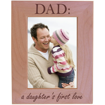 Customgiftsnow Dad A Daughters First Love Wood Picture Frame