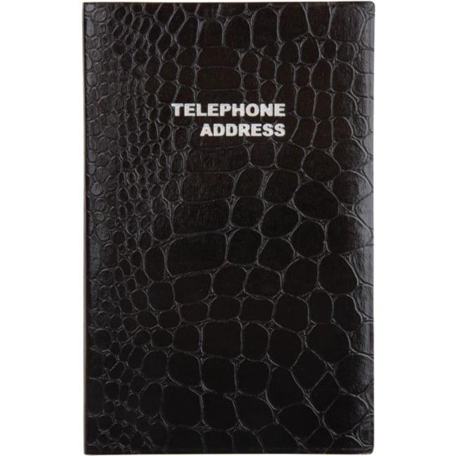 Medium Croc Telephone/Address Book, 4 1/8in x 6 3/16