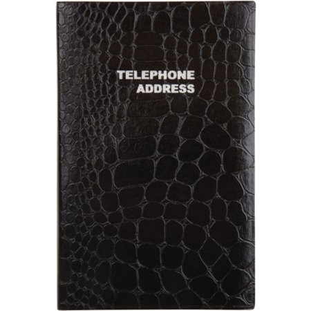 Medium Croc Telephone/Address Book, 4 1/8in x 6 3/16