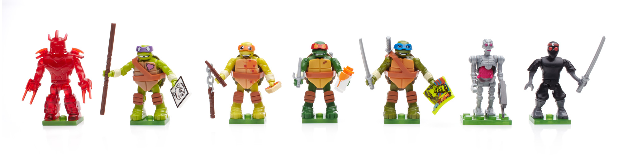 Mega Bloks Teenage Mutant Ninja Turtles Micro Action Figure Series 1 Blind Pack by Mega Bloks