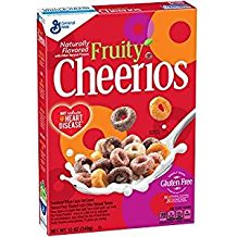 General Mills Naturally Flavored Fruity Cheerios 12 Oz. Pk Of 3.