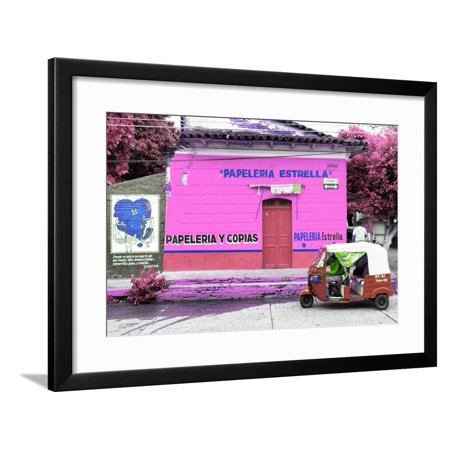 "?Viva Mexico! Collection - Pink Estrella"""" Framed Print Wall Art By Philippe Hugonnard"