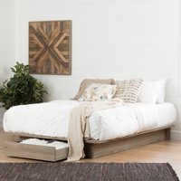 South Shore Primo Full/Queen Platform Bed (54/60'') with Drawers, Multiple Finishes