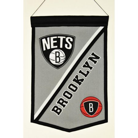 New Jersey Nets Official NBA 12 inch x 18 inch Wool Traditions Banner Flag by Winning Streak