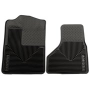 HUSKYLINER 51201 Heavy Duty Floor Mat, Black - Rubber 2008-2010 Ford