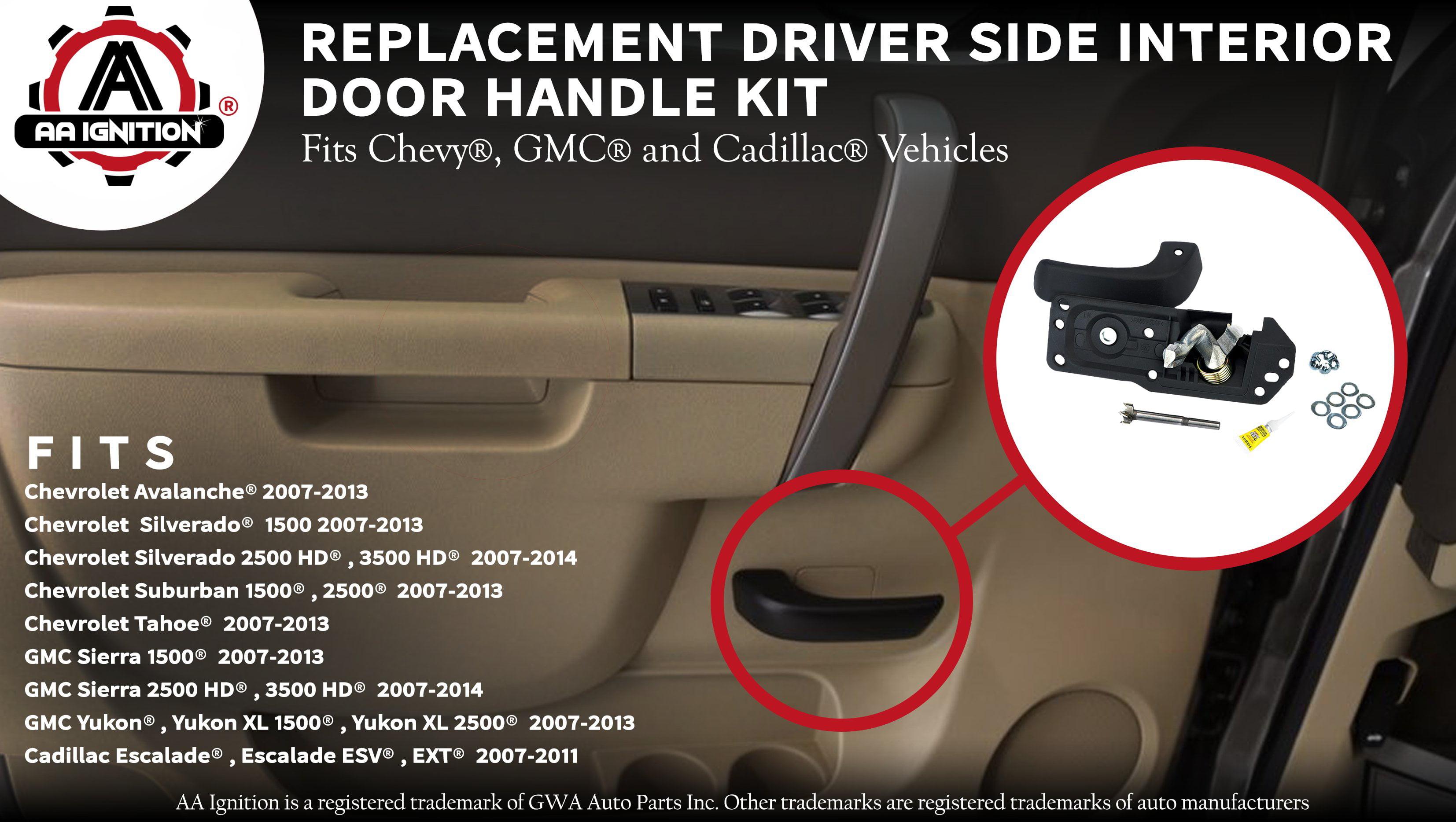 Interior Door Handle Kit Front Drivers Side For Chevy Silverado Tahoe Suburban Avalanche Gmc Sierra Yukon Xl Cadillac Escalade 2007 2017