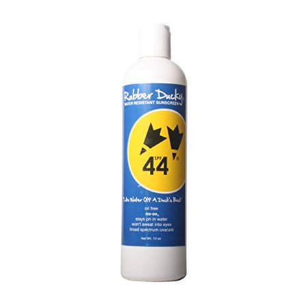 Rubber Ducky | SPF 44 Sunscreen - UVA/UVB Broad Spectrum - 8 Hour Water Resistant System - Unscented, Oil Free, Oxybenzone Free, Reef-Safe - 12oz bottle