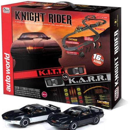 knight rider k i t t ho scale slot car race track set. Black Bedroom Furniture Sets. Home Design Ideas