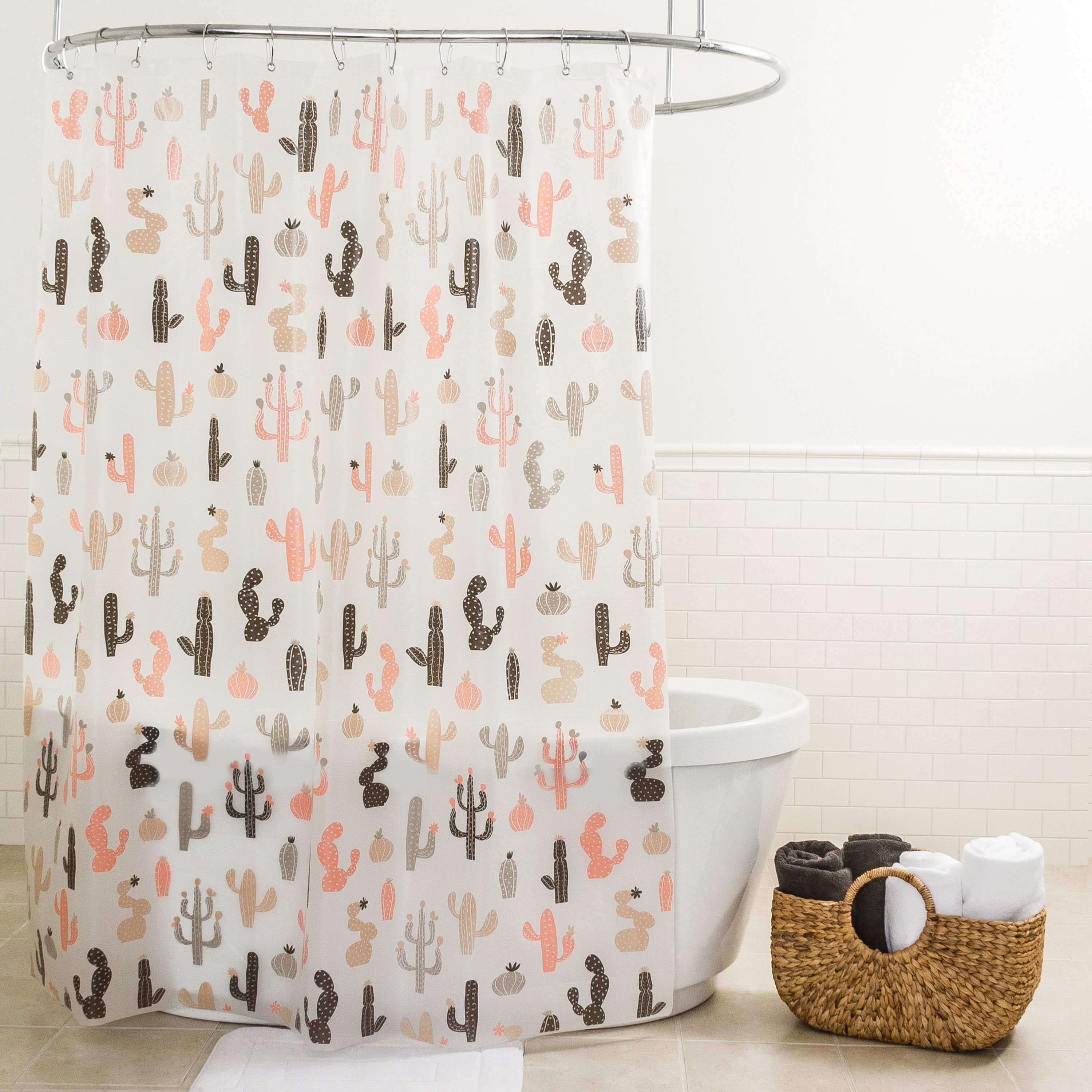 SPLASH BATH SHOWER CURTAIN PEVA VINYL - MOJAVE CACTUS - 70 x 72 NIP NEW