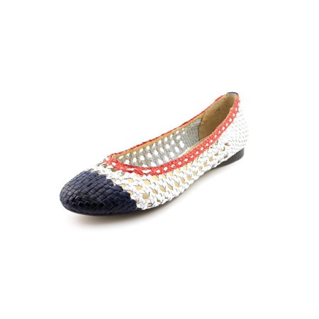 Zoe + Luca Womens Amy-Z Leather Closed Toe Ballet Flats, Blue/Multi, Size 7.5](Zoe Ball In Leather)