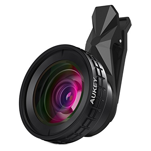 AUKEY Ora iPhone Lens, 0.45x 140° Wide Angle + 10x Macro Clip-on Cell Phone Camera Lenses Kit for Samsung, Android Smartphones, iPhone