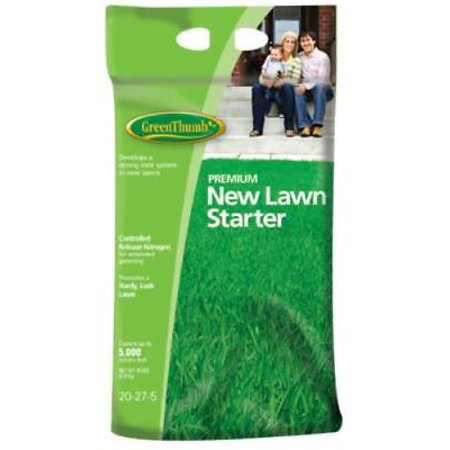 Green Thumb 18 LB 5,000 SQFT Coverage 20-27-5 Premium New Lawn Starter Only