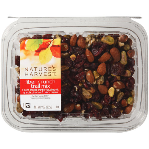 Nature's Harvest Fiber Crunch Trail Mix, 9 oz