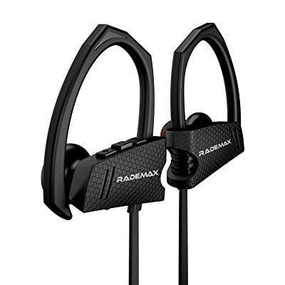 Wireless Sports Headphones, Rademax Wireless Bluetooth Earbuds Sweatproof Earphones Noise Cancelling Headsets In-ear Buds for Sports Running
