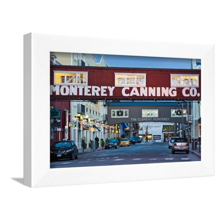 Cannery Row Area at Dawn, Monterey, California, USA Framed Print Wall Art By Green Light Collection