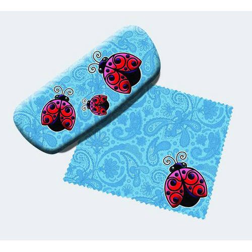 Ladybugs Eyeglass Case and Cleaner
