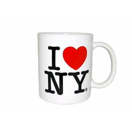 I Love NY Mug - White Ceramic 11 ounce I Love NY Mugs 11 Ounce White Porcelain