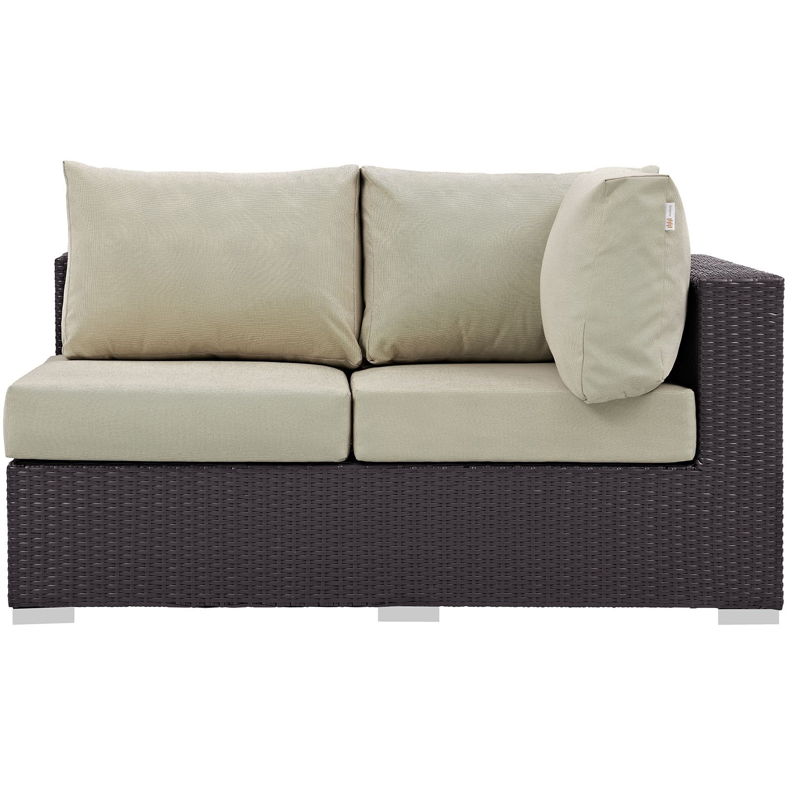 Modway Convene Outdoor Patio Right Arm Loveseat, Multiple Colors