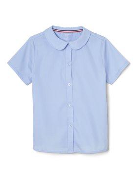 French Toast Girls School Uniform Short Sleeve Modern Peter Pan Collar Blouse, Sizes 4-20 & Plus