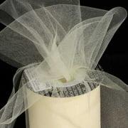 "Designer Cream Tulle Craft Ribbon 3"" x 550 Yards"