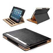 S-Tech Apple iPad Pro 12.9 2018 3rd Generation Case Soft Leather Wallet Magnetic Smart Cover with Sleep/Wake Feature Flip Folio (iPad Pro 12.9 Model 2018 2019 Models ONLY) (Black)