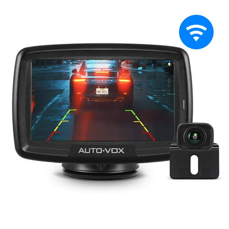 AUTO VOX Digital Wireless Backup Camera Kit CS-2, Stable Signal Rear View Monitor and Reversing Camera for Vans,Trucks,Camping (Backup Camera Kit)