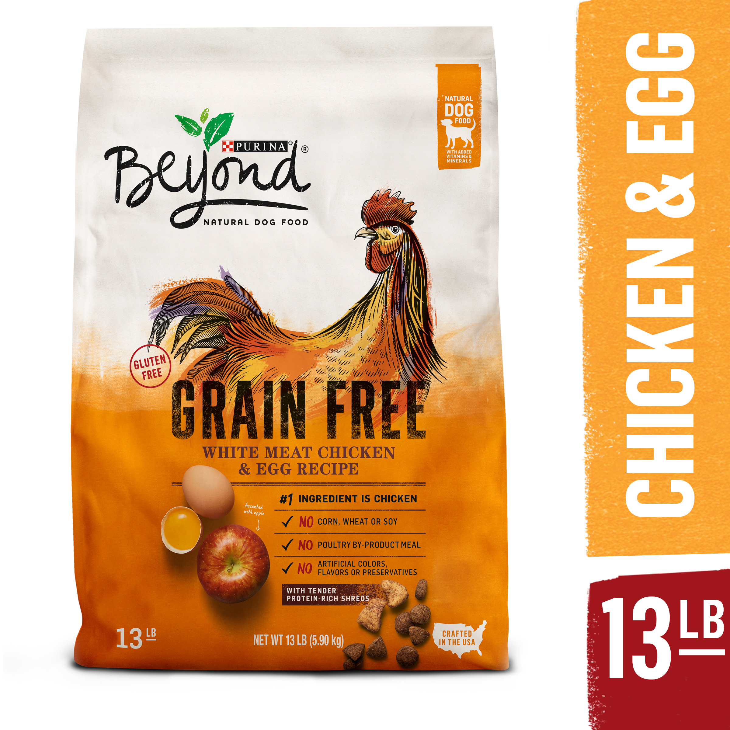 Purina Beyond Grain Free White Meat Chicken & Egg Recipe Adult Dry Dog Food - 13 lb. Bag