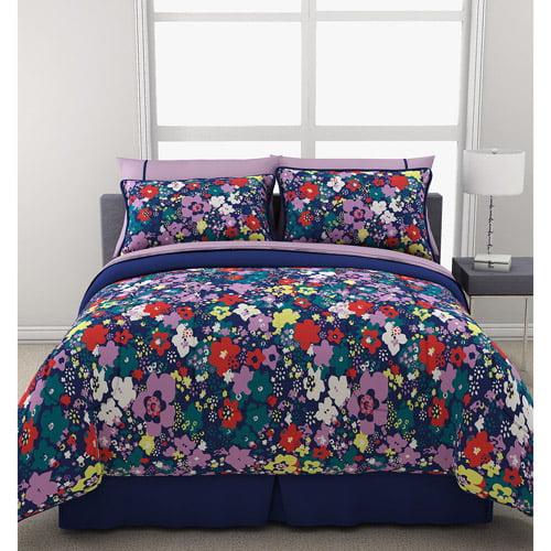 Formula Ditsy Floral Reversible Bed in a Bag Bedding Set, Navy
