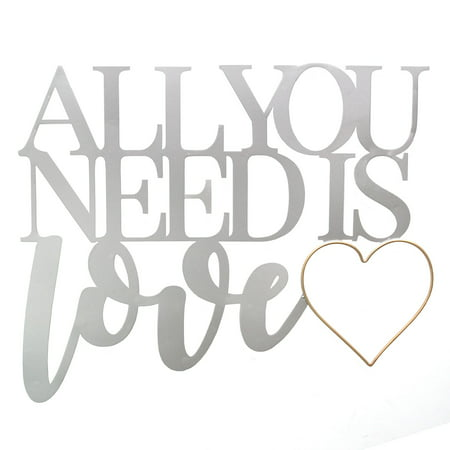 Stratton Home Decor All You Need is Love Metal Word Wall Decor ...