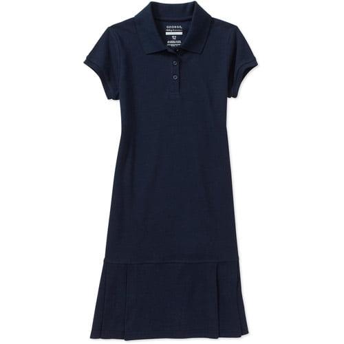George Girls' School Uniforms, Polo Dress With Pleats