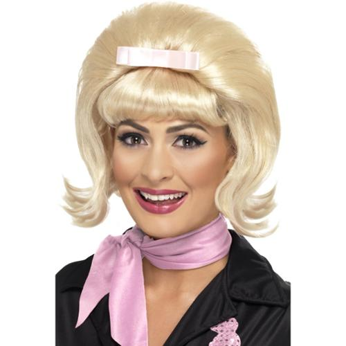 50's Flicked Beehive Bob Costume Wig Adult: Blonde