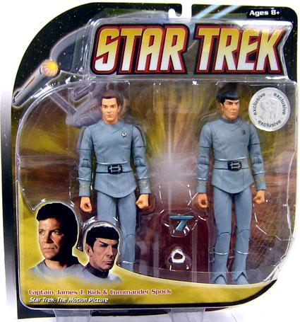 Star Trek The Motion Picture Kirk & Spock Action Figure 2-Pack [All Gray] by