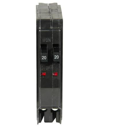 Square D QO Tandem Circuit Breaker 20 amps