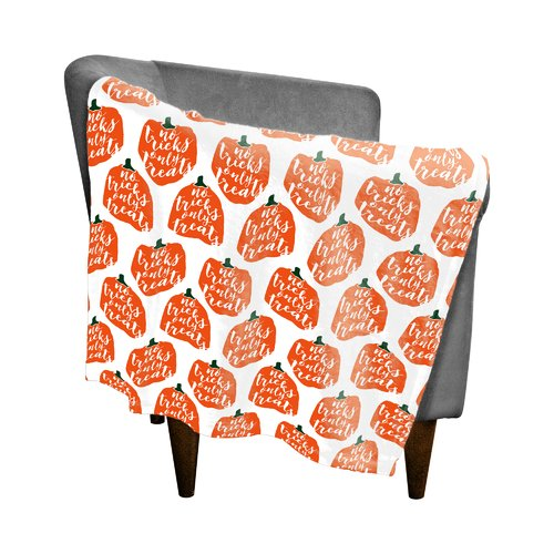 The Holiday Aisle Pumpkin Fleece Throw