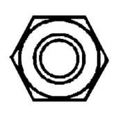 1/4-20 FIN HEX NUTS SS 100/BOX