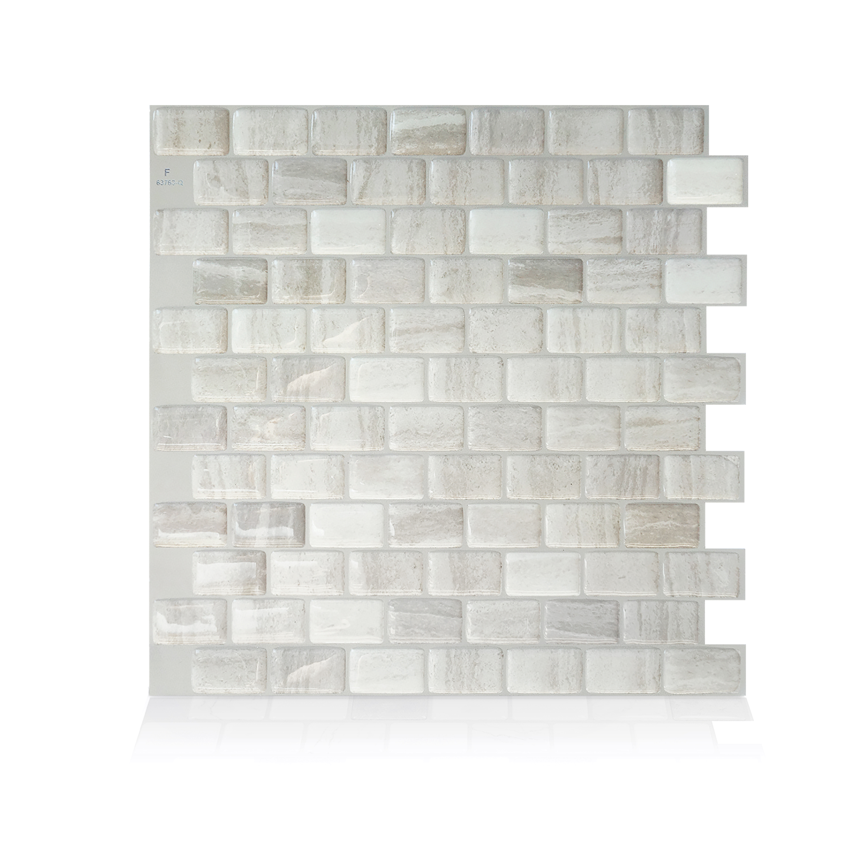 Smart Tiles 9.80 in x 9.74 in Peel and Stick Self-Adhesive Mosaic Backsplash Wall Tile - Ravenna Fabro (each)