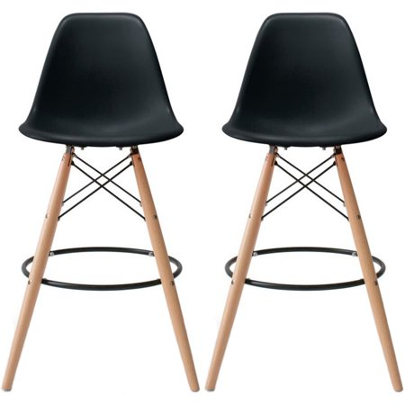 2xhome Set Of 2 25 Quot Seat Height Modern Chair Plastic Bar
